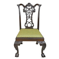 Philadelphia Chippendale Style Chair with Carved Ribbon-Back, circa 1840