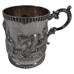 Philadelphia Coin Silver Baby Cup with Fantasy Turrets and Pagodas