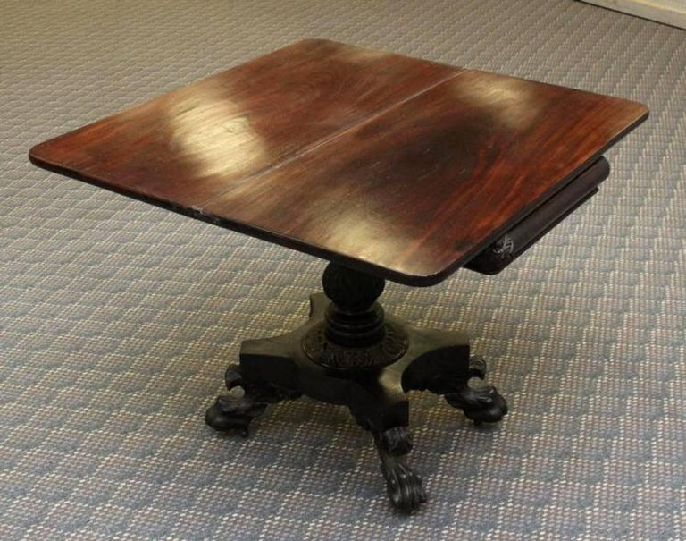 Early 19th Century Philadelphia Federal Card Table Attributed to Anthony Quervelle For Sale
