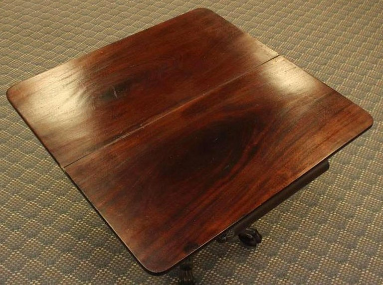 Mahogany Philadelphia Federal Card Table Attributed to Anthony Quervelle For Sale