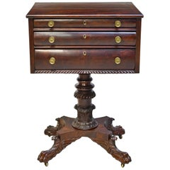 Philadelphia Federal Work or End Table in Mahogany, circa 1820