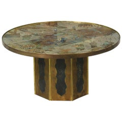 "Philip & Kelvin Laverne Bronze ""Chan"" Coffee Table"