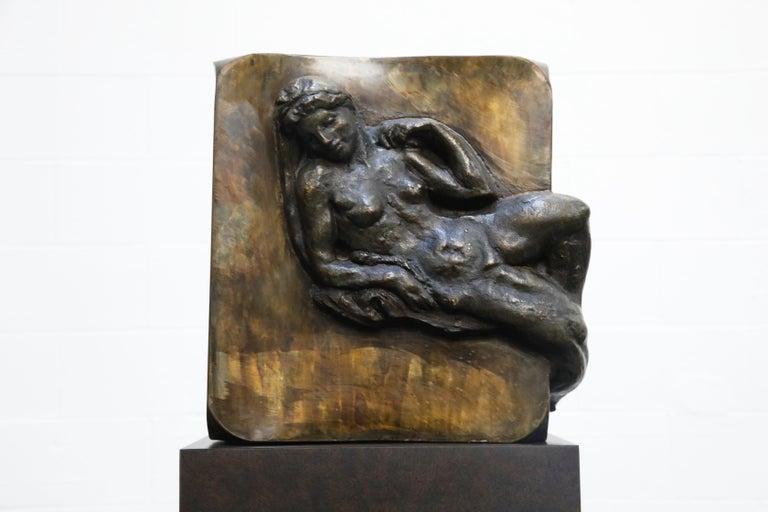 Philip and Kelvin LaVerne 'Aphrodite' Bronze Sculpture on Pedestal, 1960s Signed For Sale 4