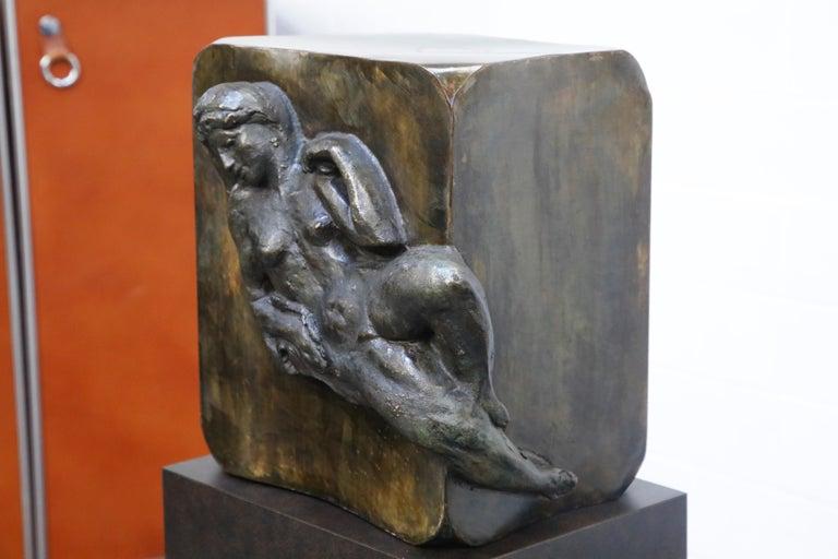 Philip and Kelvin LaVerne 'Aphrodite' Bronze Sculpture on Pedestal, 1960s Signed For Sale 6
