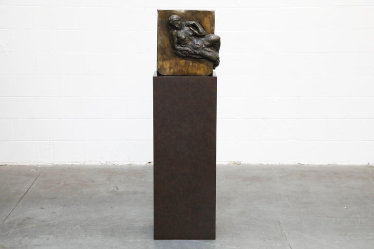 This incredible Philip and Kelvin LaVerne bronze sculpture on pedestal titled