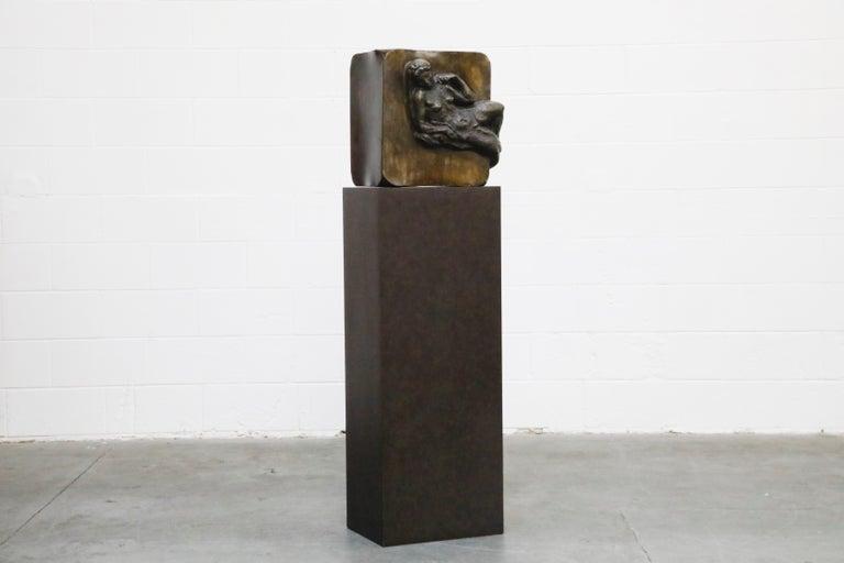 Mid-Century Modern Philip and Kelvin LaVerne 'Aphrodite' Bronze Sculpture on Pedestal, 1960s Signed For Sale