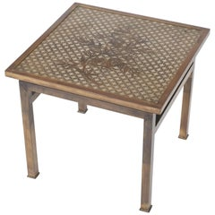 Philip and Kelvin LaVerne Bronze Kuan Su Side Table