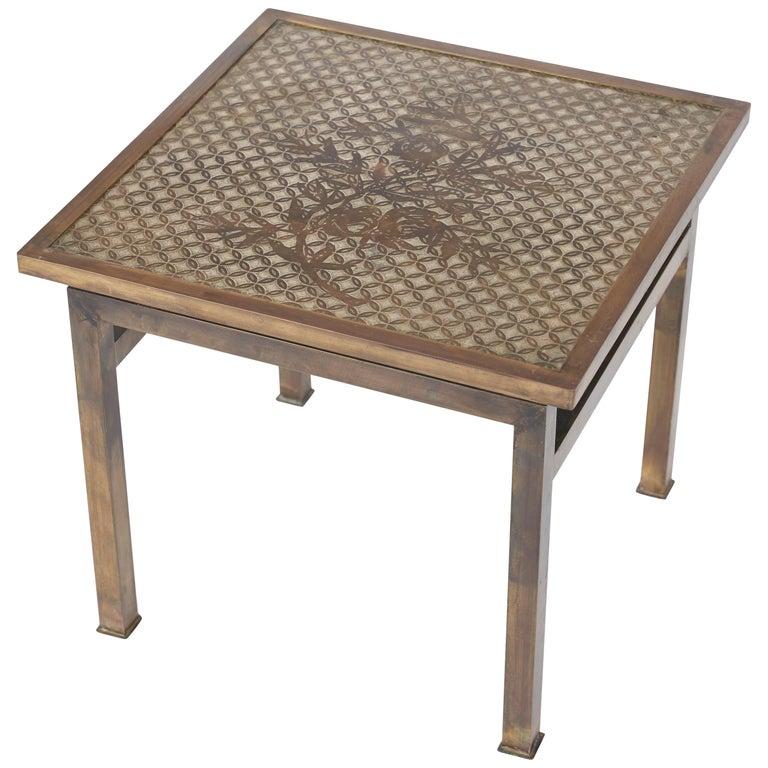 Philip and Kelvin LaVerne Bronze Kuan Su Side Table