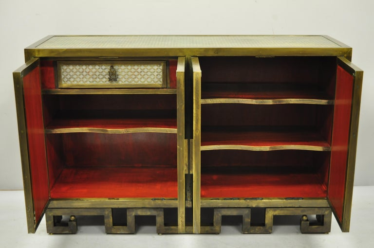 Late 20th Century Philip and Kelvin LaVerne Chan Li Cabinet in Patinated Bronze and Pewter For Sale