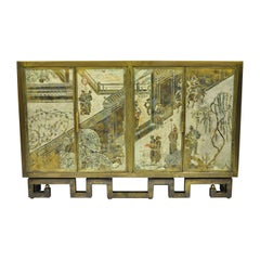Philip and Kelvin LaVerne Chan Li Cabinet in Patinated Bronze and Pewter