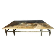 Philip and Kelvin LaVerne Coffee Cocktail Table, Custom Made Monumental