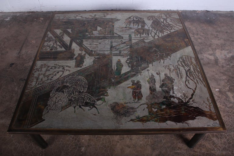 Mid-20th Century Philip and Kelvin LaVerne Coffee Table For Sale