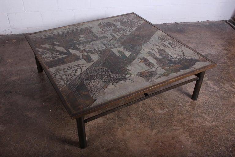Bronze Philip and Kelvin LaVerne Coffee Table For Sale
