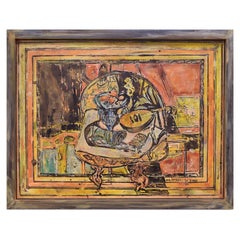 Philip and Kelvin LaVerne Expressionist Still Life Painting on Bronze, 1960's