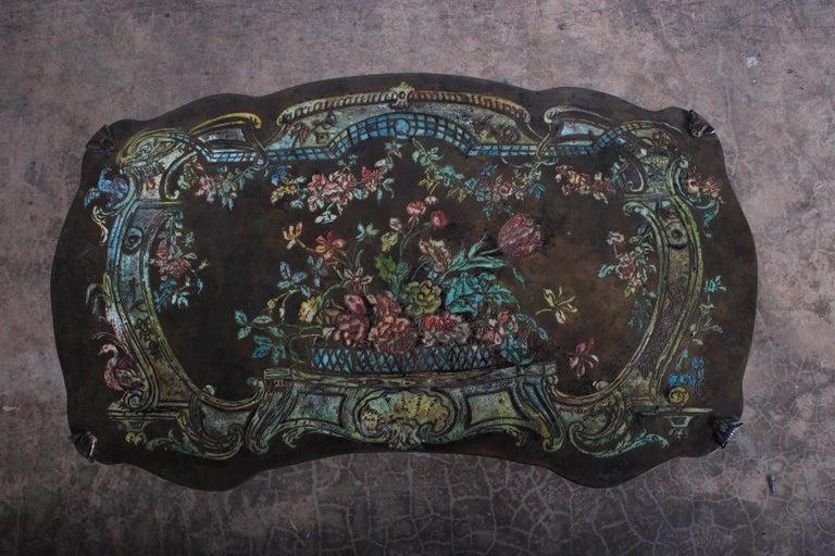 "Bronze Philip and Kelvin LaVerne ""Madame Pompadour"" Table For Sale"
