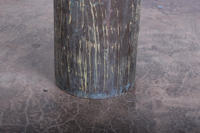 Philip and Kelvin LaVerne Patinated Side Table 2