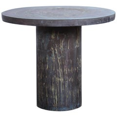 Philip and Kelvin LaVerne Patinated Side Table