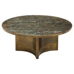 Philip and Kelvin LaVerne Rare 'Eternal Forest' Coffee Table