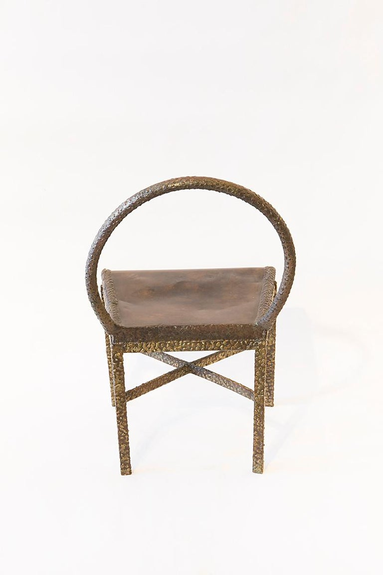 Philip and LaVern Cross Base Chair Single Edition In Excellent Condition For Sale In New York, NY