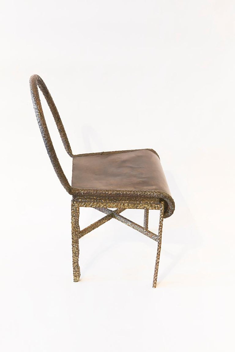 Late 20th Century Philip and LaVern Cross Base Chair Single Edition For Sale