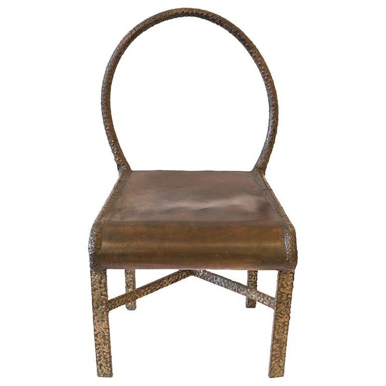 Philip and LaVern Cross Base Chair Single Edition For Sale