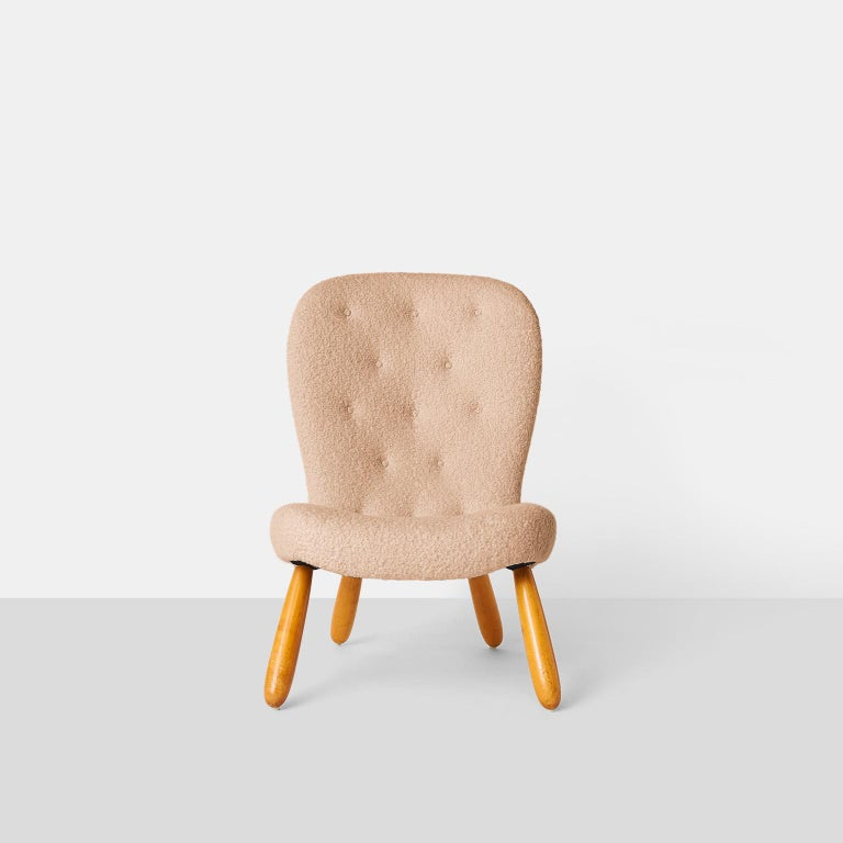 Scandinavian Modern Philip Arctander Armless Clam Chair For Sale