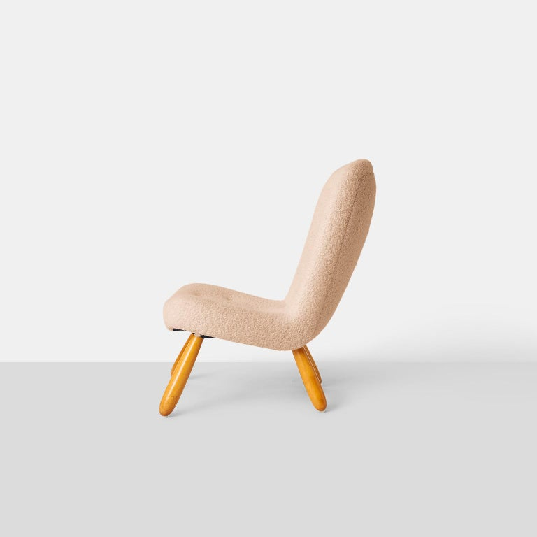Danish Philip Arctander Armless Clam Chair For Sale