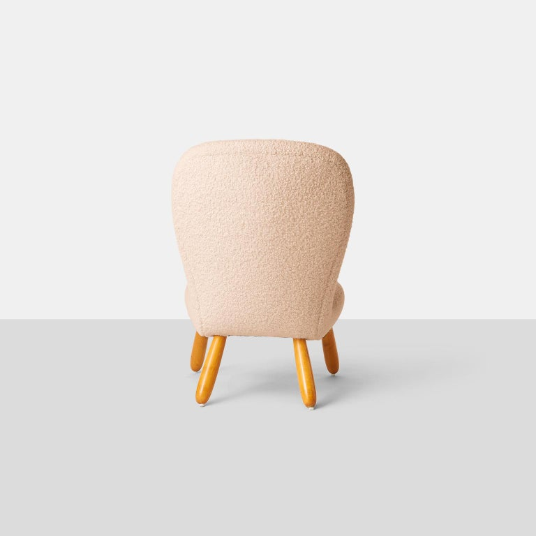 Philip Arctander Armless Clam Chair In Good Condition For Sale In San Francisco, CA