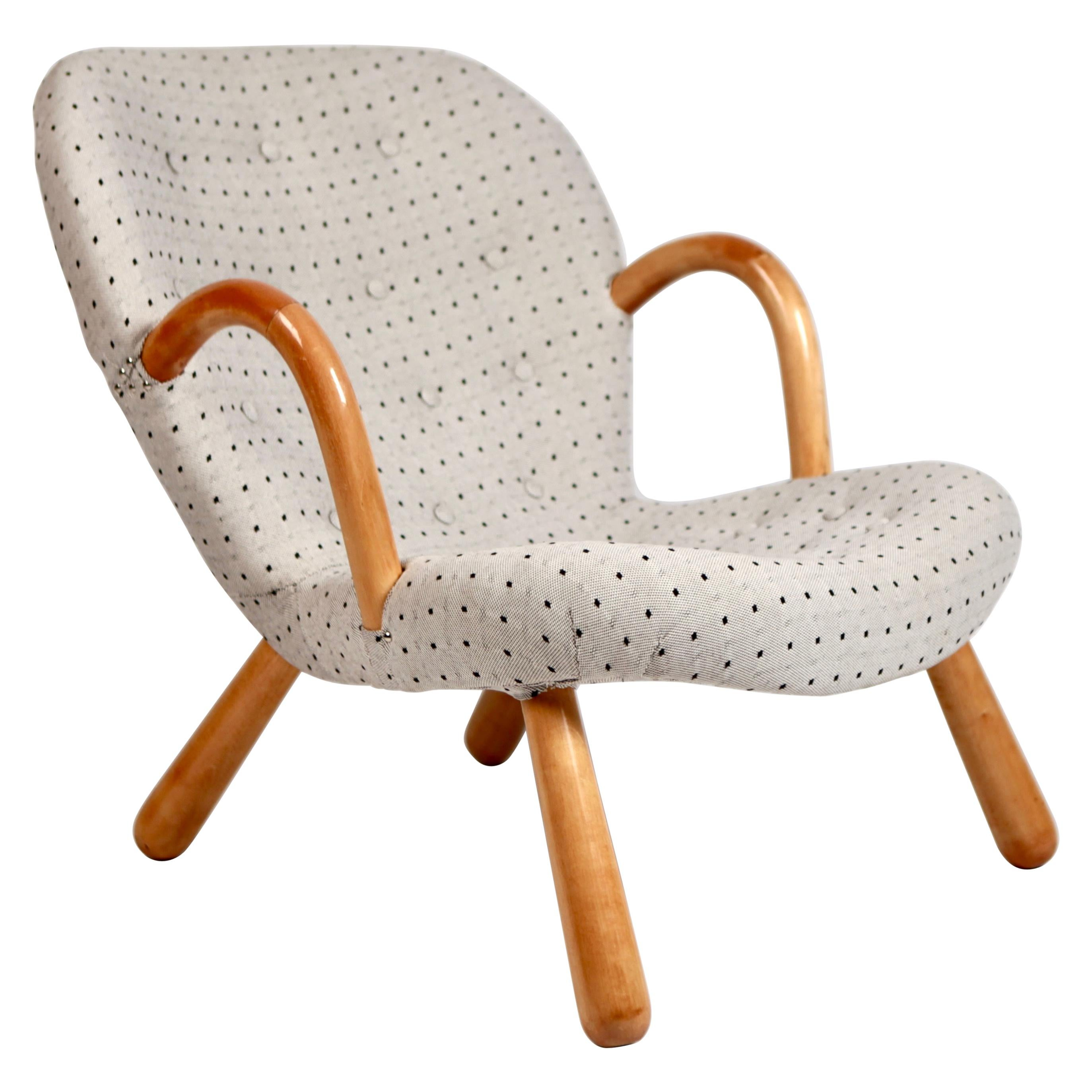 Philip Arctander Clam Chair by Nordisk Stål  Denmark, 1940s