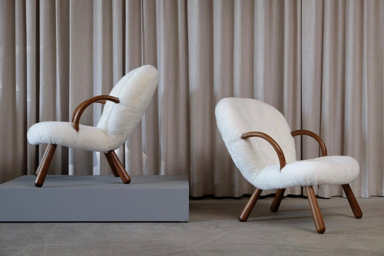 Philip Arctander Clam Chairs by Nordisk Stål & Møbel Central in Denmark, 1940s For Sale 9