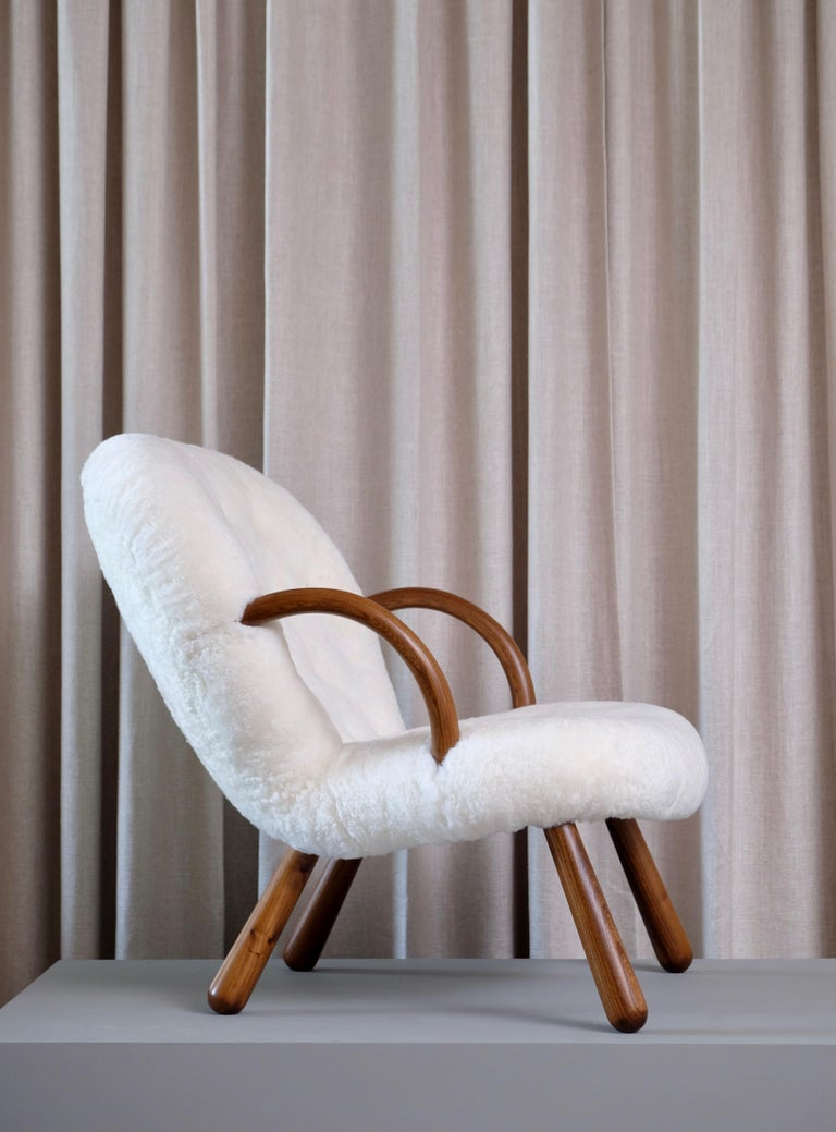 Philip Arctander Clam Chairs by Nordisk Stål & Møbel Central in Denmark, 1940s For Sale 10