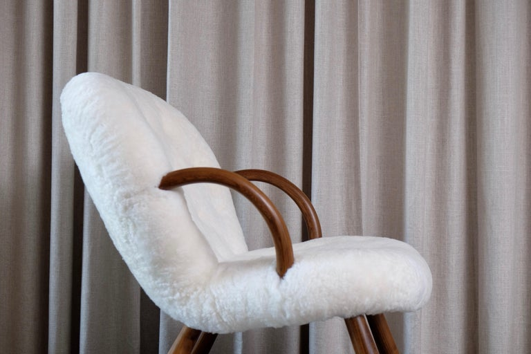 Philip Arctander Clam Chairs by Nordisk Stål & Møbel Central in Denmark, 1940s For Sale 11