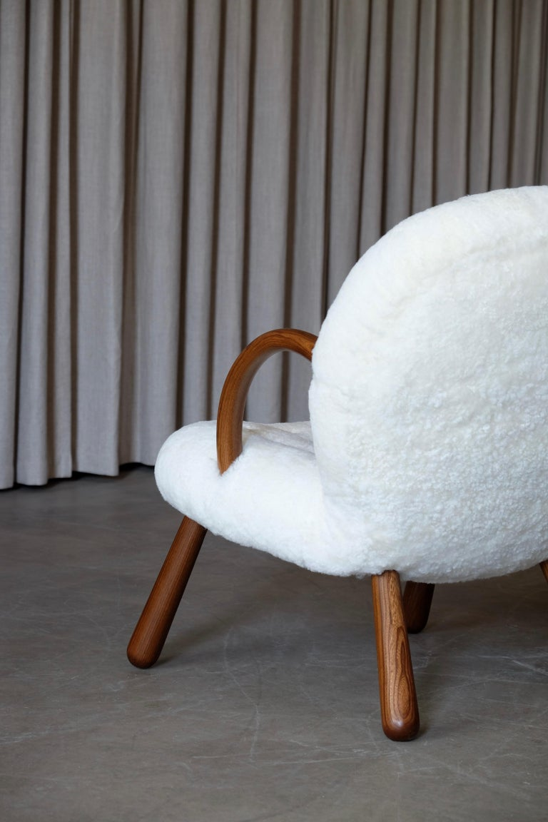 Danish Philip Arctander Clam Chairs by Nordisk Stål & Møbel Central in Denmark, 1940s For Sale