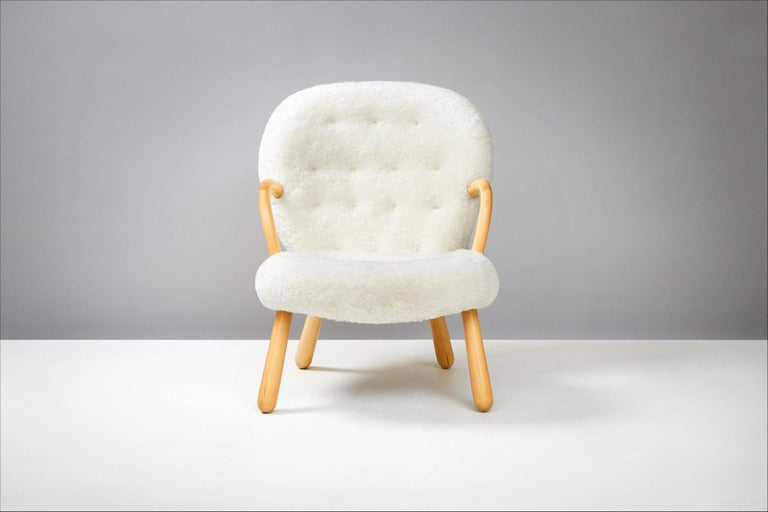 Philip Arctander Pair of Clam Chairs, 1950s In Excellent Condition For Sale In London, GB