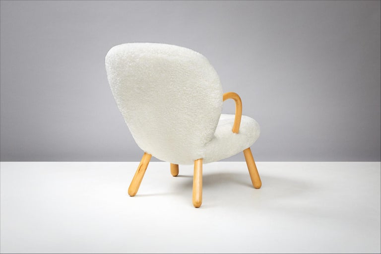 Philip Arctander Pair of Clam Chairs, 1950s For Sale 2