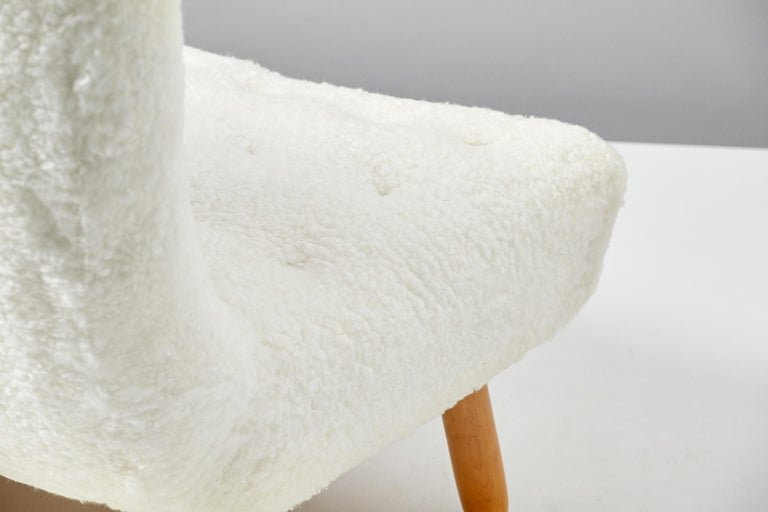 Philip Arctander Sheepskin Clam Sofa, 1950s For Sale 1