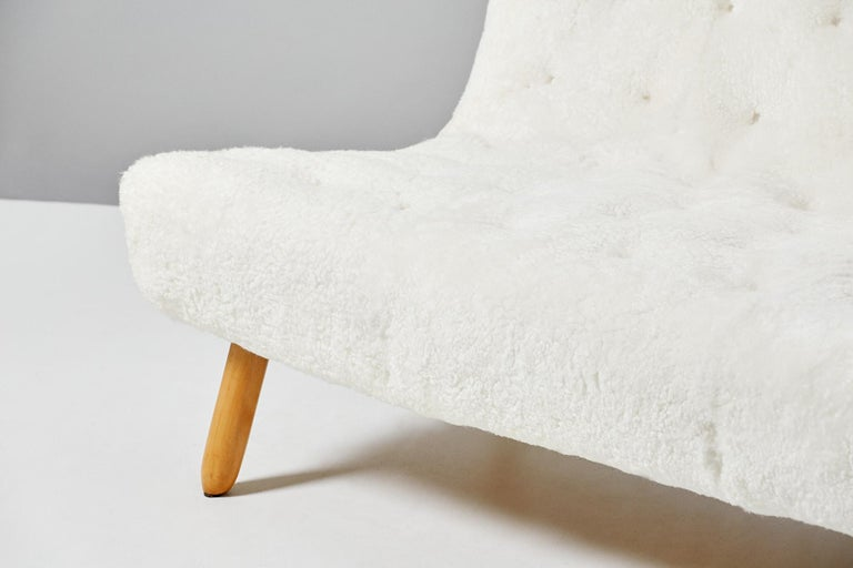 Philip Arctander Sheepskin Clam Sofa, 1950s For Sale 2