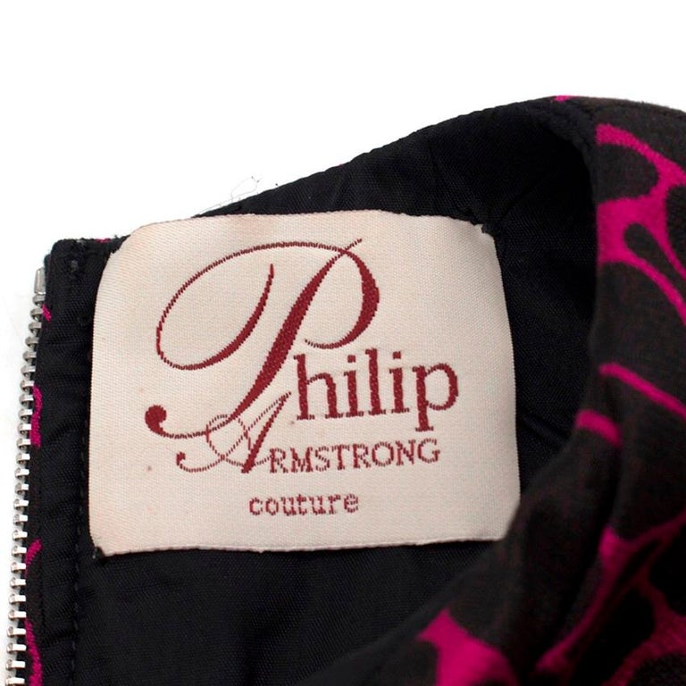 Philip Armstrong Abstract-Jacquard Belted Dress SIZE UK 8/ US 4 For Sale 3