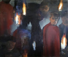 "Philip Buller Monumental Painting ""Torch Light"""