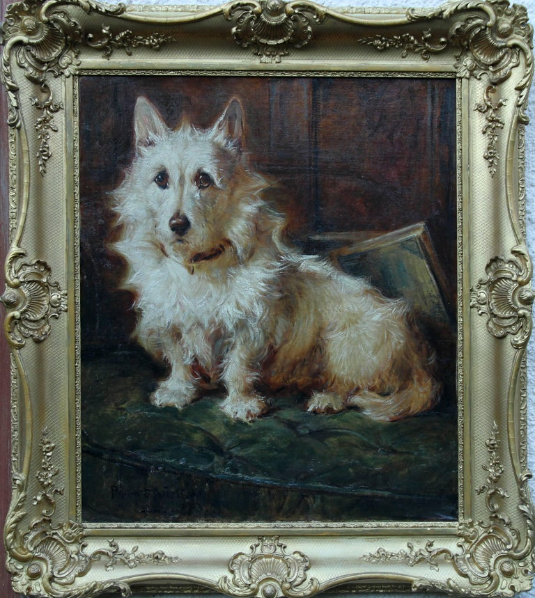Portrait of a terrier, 1913, by Philip Eustace Stretton, offered by Richard Taylor Fine Art