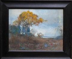 Scottish Landscape - British art early 20thC Impressionist painting autumn