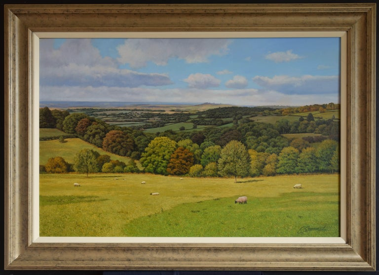 A PERFECT VIEW, Painting, Oil on MDF Panel For Sale 1