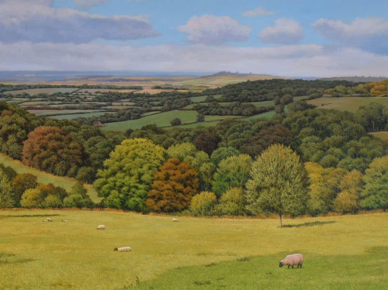 A PERFECT VIEW, Painting, Oil on MDF Panel For Sale 2