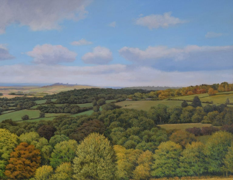 A PERFECT VIEW, Painting, Oil on MDF Panel For Sale 4