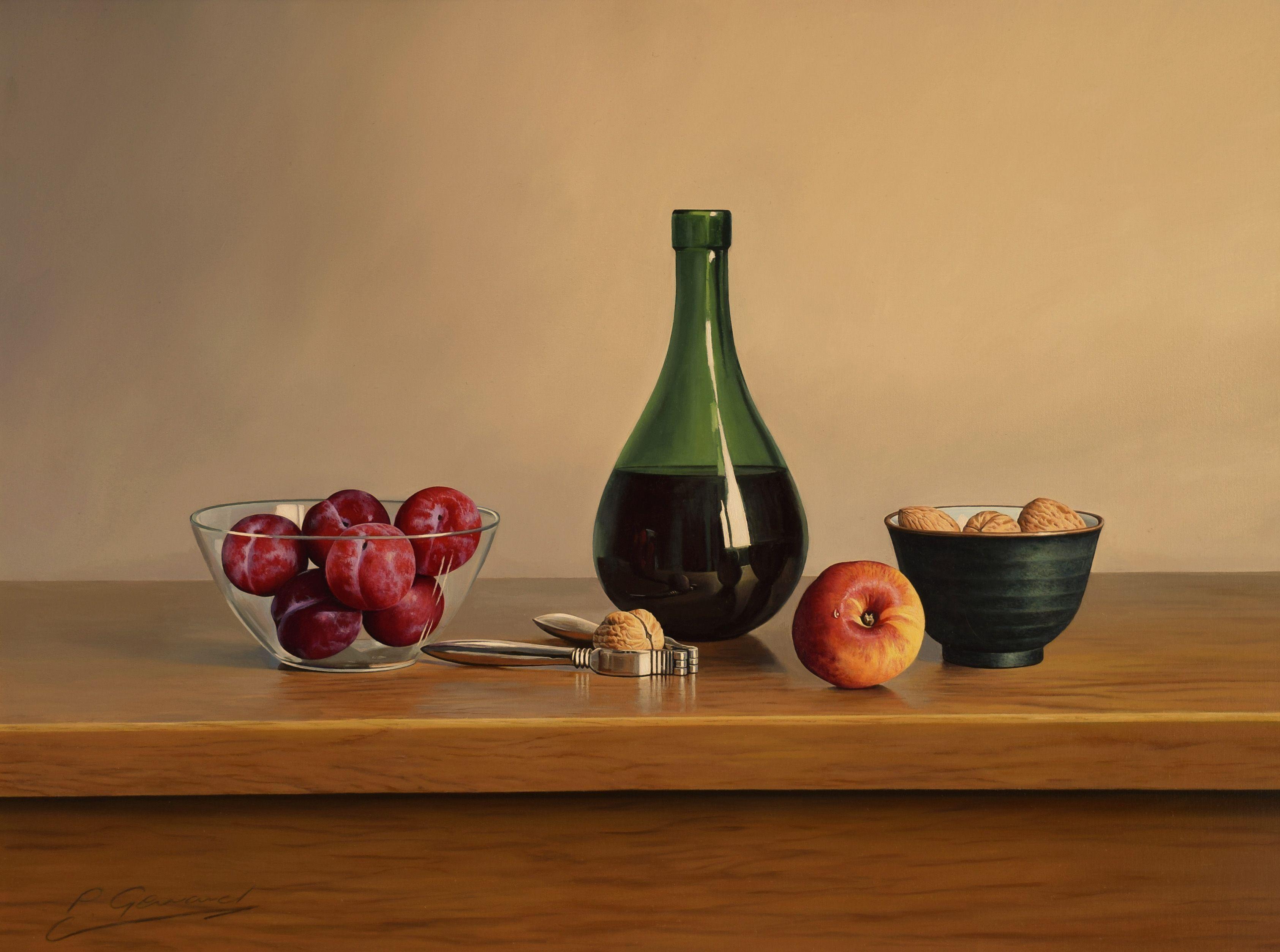BLACKBERRY WINE, Painting, Oil on MDF Panel
