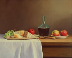 GETTING HUNGRY, Painting, Oil on MDF Panel