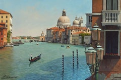 THE GRAND CANAL VENICE, Painting, Oil on MDF Panel