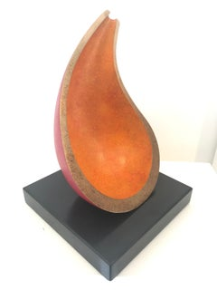 """Direction"" Non-figurative derived from a vessel fo table top bronze sculpture"
