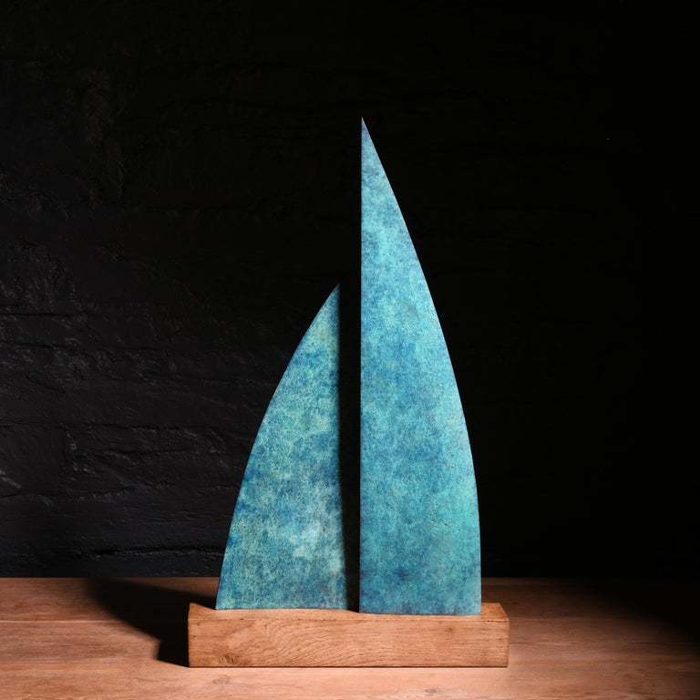 Home or Away - Brown Abstract Sculpture by Philip Hearsey