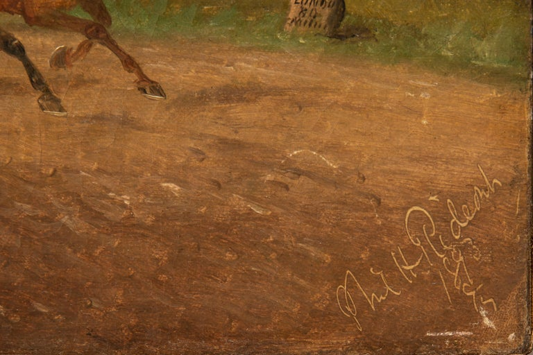 Victorian Philip Henry Rideout Signed Oil on Canvas, 1893 For Sale